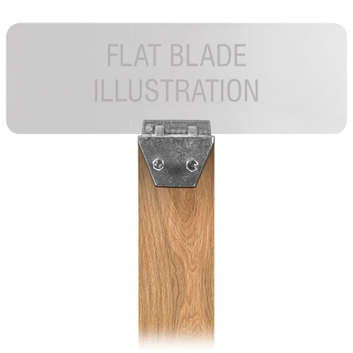Flat Blade Wood Post Street Name Sign Bracket