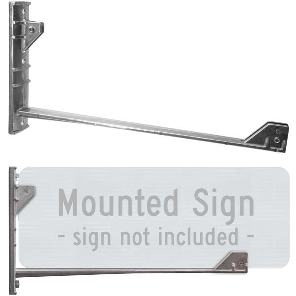 Street Name Sign Wing Bracket