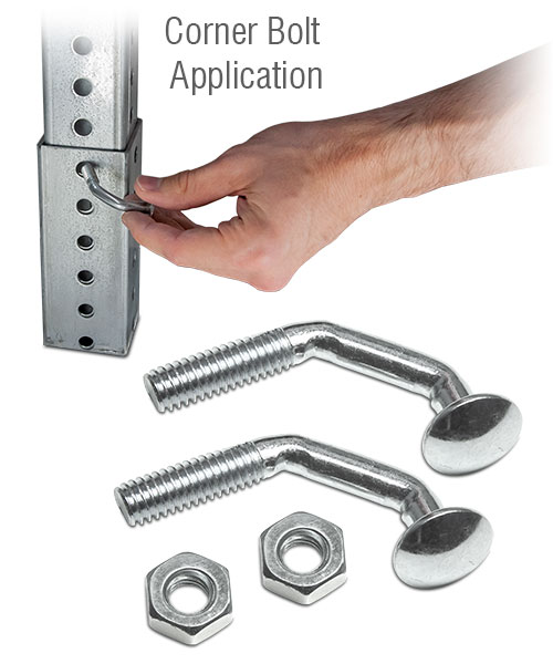 Corner Bolt Set with Jam Nuts