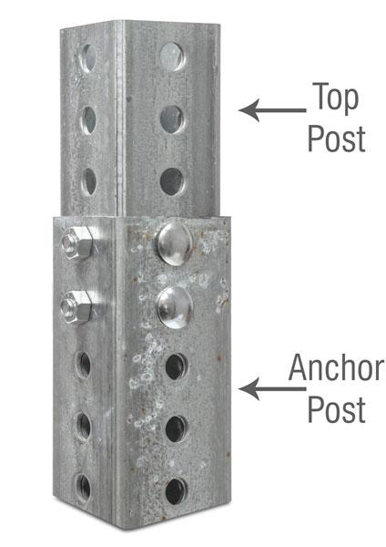 Galvanized Square Anchor Post