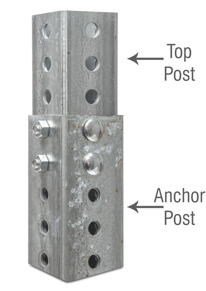 3ft Galvanized Square Anchor Post