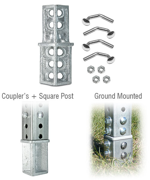SNAP'n SAFE Square Post Breakaway Coupler
