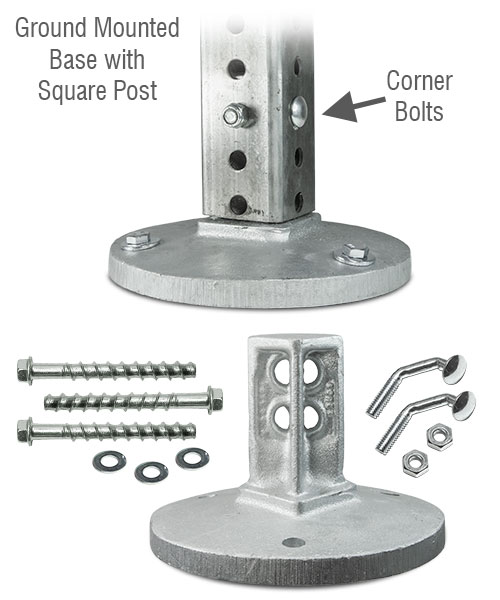 SNAP'n SAFE Square Post Surface Mount Breakaway Base