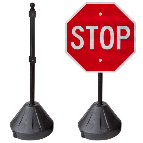 Portable Pole 2 Sign Stand