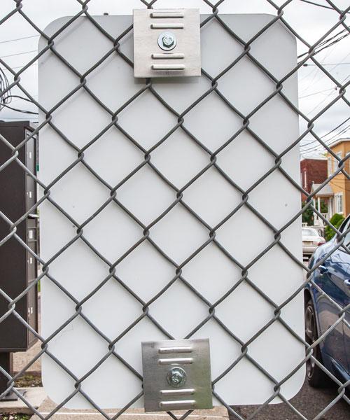 Fence Mounting Bracket - Ribbed Aluminum Plates