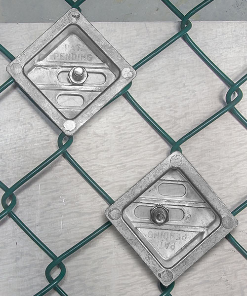 """Tamper-Resistant 2"""" Chain Link Fence Sign Mounting Kit"""