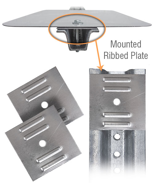 "3"" Ribbed Aluminum Sign Saver Plates"