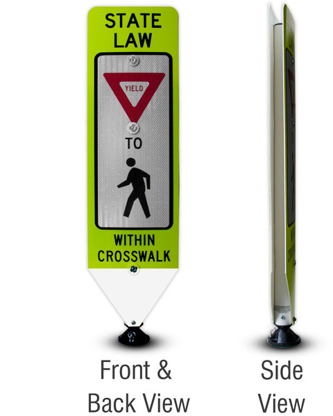 Replacement Yield To Pedestrians Panel