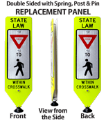 State Law Yield to Pedestrians Crossing Signs