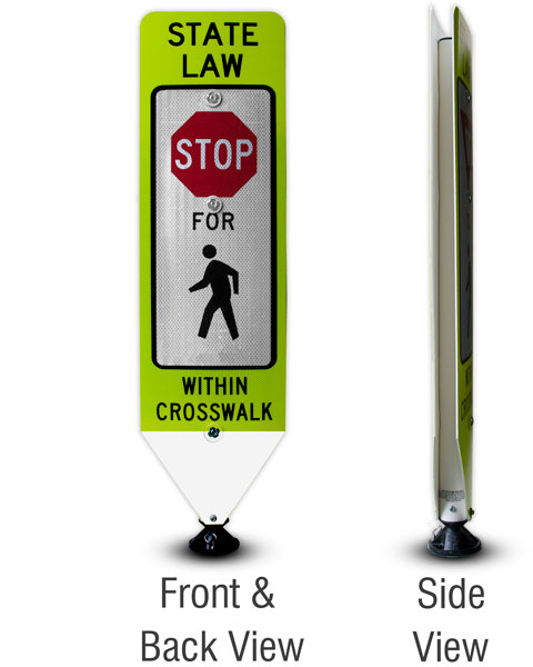 Replacement Stop For Pedestrians Panel