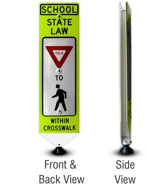Replacement School Yield To Pedestrians Panel
