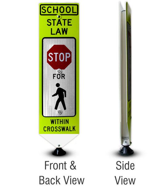 Replacement School Stop For Pedestrians Panel