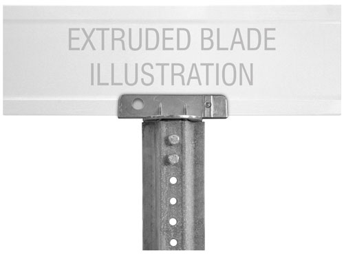 180 Degree U-Channel Post Bracket For Extruded Blade Street Sign