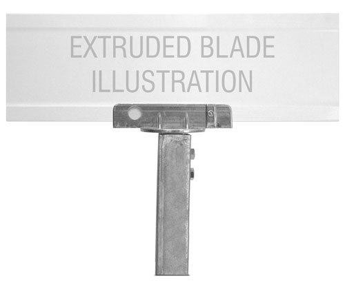 90 Degree U-Channel Post Bracket For Extruded Blade Street Sign