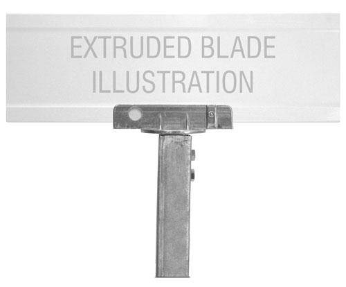 90 Degree U-Channel Post Extruded Blade Street Name Sign Bracket