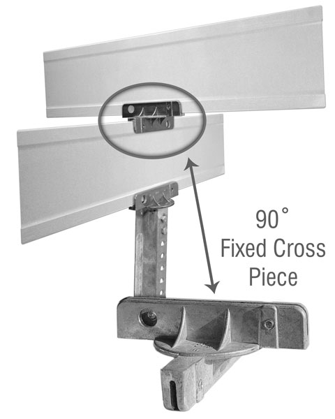 90 Degree Cross Separator For Extruded Blade Street Name Sign