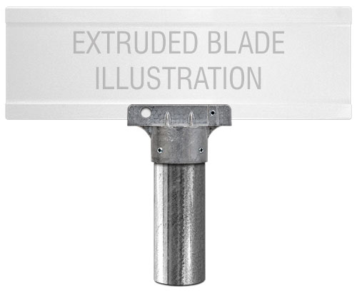 2-3/8'' Round Post Extruded Blade Street Name Sign Bracket