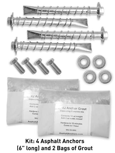 Asphalt Anchor Kit For Mounting Sign Base