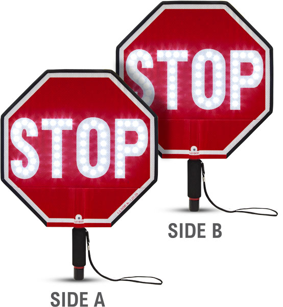 """18"""" LED Stop / Stop Paddle"""