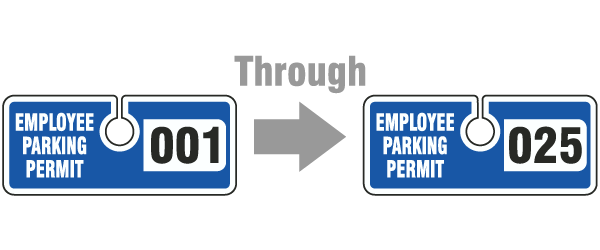 Blue Employee Parking Permit Tag
