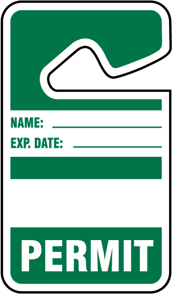 Green Parking Permit Tags