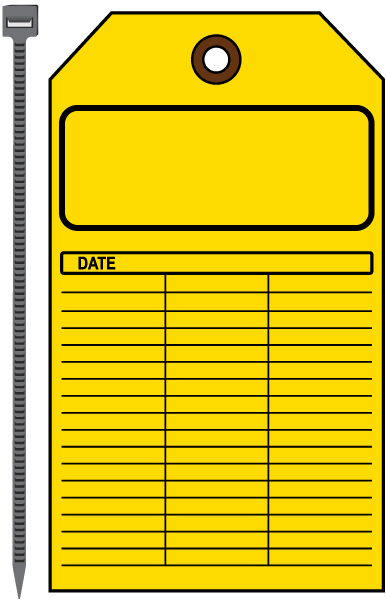 Blank Yellow Inspection Tag