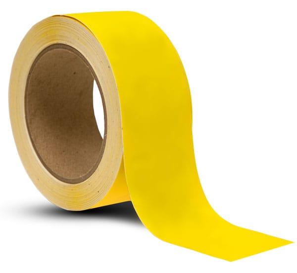 Yellow Vinyl Floor Marking Tape