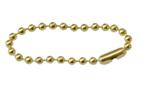 #6 Brass Beaded Chain