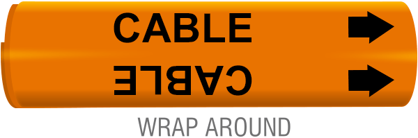 Cable Line Wrap-Around Marker