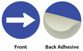 Blue / White Plastic Engraved Arrow