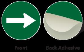 Green / White Plastic Engraved Arrow