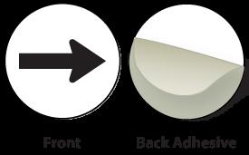 White / Black Plastic Engraved Arrow