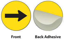 Yellow / Black Plastic Engraved Arrow
