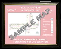 "8-1/2 x 11"" Plastic Evacuation Map Holder"