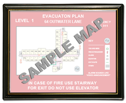 "8-1/2 x 11"" Plastic Evacuation Map Holder"