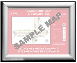 "8-1/2 x 11"" Aluminum Evacuation Map Holder"