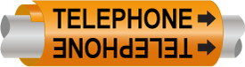 Telephone Line Wrap-Around Marker