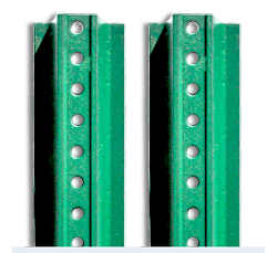 U-Channel Sign Posts Multiple Sizes in Green Enamel or Galvanized Finish