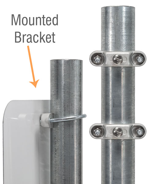 Round Post Sign Bracket