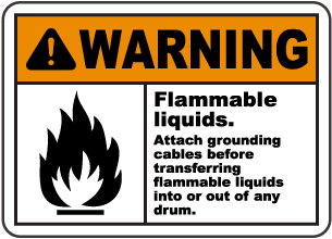 Attach Grounding Cables Sign