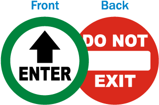 Enter / Do Not Exit Label