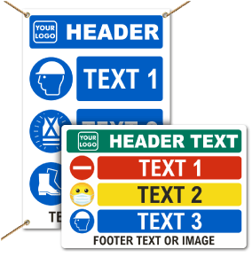 Custom PPE Signs and Banners — 3 Images