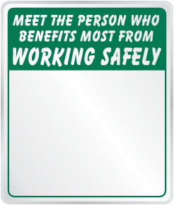 Person Who Benefits Most From Working Safely Mirror