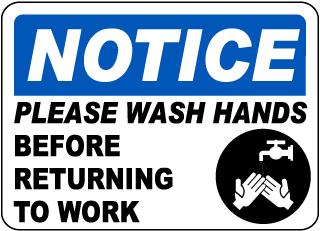 Notice Please Wash Your Hands Sticker