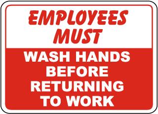 Employees Must Wash Hands Sticker