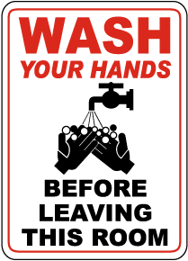 Wash Your Hands Before Leaving Sticker