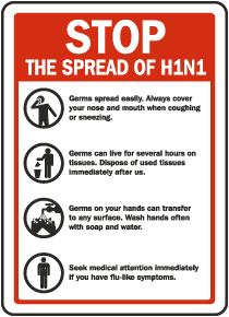 Stop The Spread of Swine Flu Sticker