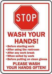 Stop Wash Your Hands Sticker