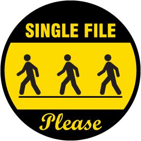 Single File Floor Signs