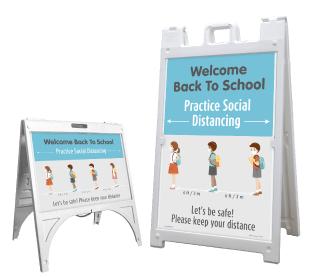 Back to School Social Distancing Sandwich Board Sign